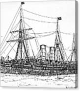 Cunard Liner Umbria 1880's Canvas Print