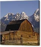 Cunningham Cabin Grand Tetons Wyoming Canvas Print