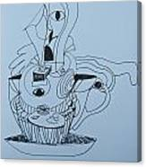 Cup Cake - Doodle Canvas Print
