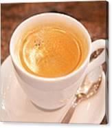 Espresso In White Canvas Print