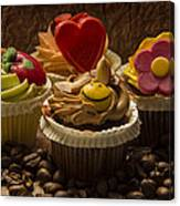 Cupcakes And Coffee Beans Canvas Print