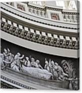 Cupola Border - Capitol Washington Dc Canvas Print