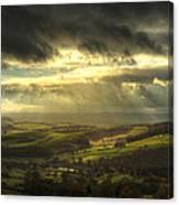 Curbar Sunbeams Canvas Print