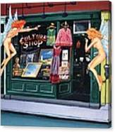 Curious Shoppers Canvas Print