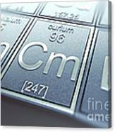 Curium Chemical Element Canvas Print
