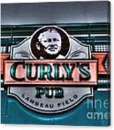 Curlys Pub - Lambeau Field Canvas Print