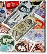 Currencies Canvas Print