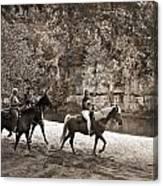 Current River Horses Canvas Print