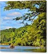 Current River Mo - Digital Paint Canvas Print
