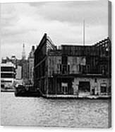 Currently Condemned Pier 64 On The Hudson River New York City Canvas Print