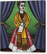Curtains For Frida Canvas Print