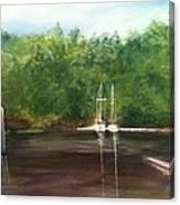 Curtain's Marina Canvas Print