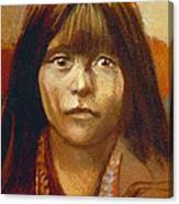 Curtis Indian Girl Canvas Print