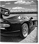Curvalicious Viper In Black And White Canvas Print