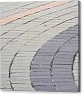 Curved Pavement As Background Canvas Print