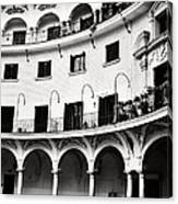 Curved Seville Spain Courtyard Canvas Print