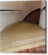 Curved Stairway At Brandywine River Museum Canvas Print