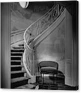 Curving Staircase In The Home Of  W. E. Sheppard Canvas Print