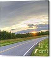 Curvy Road Sunset Canvas Print