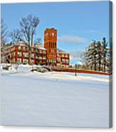 Cushing Academy In Winter Canvas Print