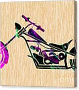 Custom Chopper Motorcycle Canvas Print