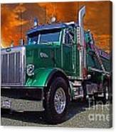 Custom Gravel Truck Catr0278-12 Canvas Print