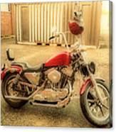 Custom Harley   Hdr Canvas Print