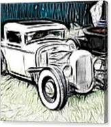 Custom Hot Rod Pickup Canvas Print