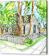 House Portrait Sample Canvas Print