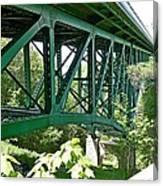 Cut River Bridge Near Epoufette Michigan Canvas Print
