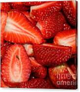Cut Strawberries Canvas Print