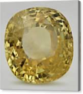 Cut Yellow Sapphire Gemstone Canvas Print