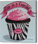 Cute As A Cupcake Canvas Print