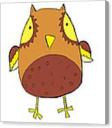Cute Brown Owl Canvas Print