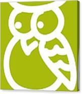 Cute Owl Nursery Print Canvas Print