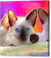 Cute Siamese Kittens Cats  Canvas Print