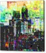 Cutout Art City Optimist Canvas Print