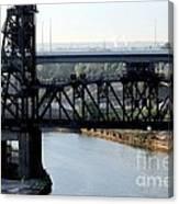 Cuyahoga River Cleveland Flats Canvas Print