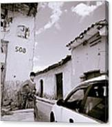 The Streets Of Cuzco Canvas Print