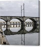 Cv - Susquehanna River Bridge Harrisburg  Pennsylvania Canvas Print