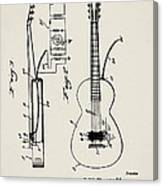 Cw Russell Acoustic Electric Guitar Patent 1939 Canvas Print