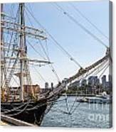Cwm At The Boston Navy Yard Canvas Print