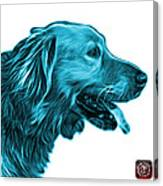 Cyan Golden Retriever - 4047 Fs Canvas Print