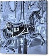 Cyan Horse Canvas Print
