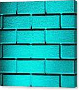 Cyan Wall Canvas Print