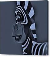 Bluegray Zebra Canvas Print