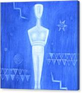 Cycladic Goddess - Middle Panel Canvas Print