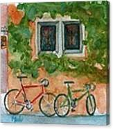 Cycle Cafe Canvas Print