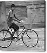 Cycling Boy Canvas Print