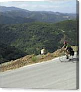 Cycling In Greek Mountains Canvas Print